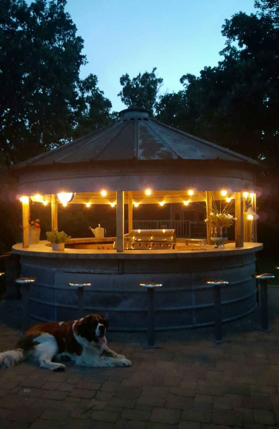 Grain Bin Bar Outdoor Kitchen Summer Silo House