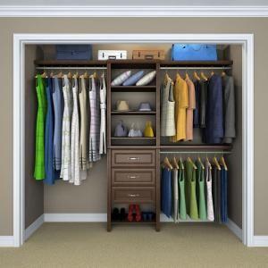 Chocolate Basic Plus Closet System