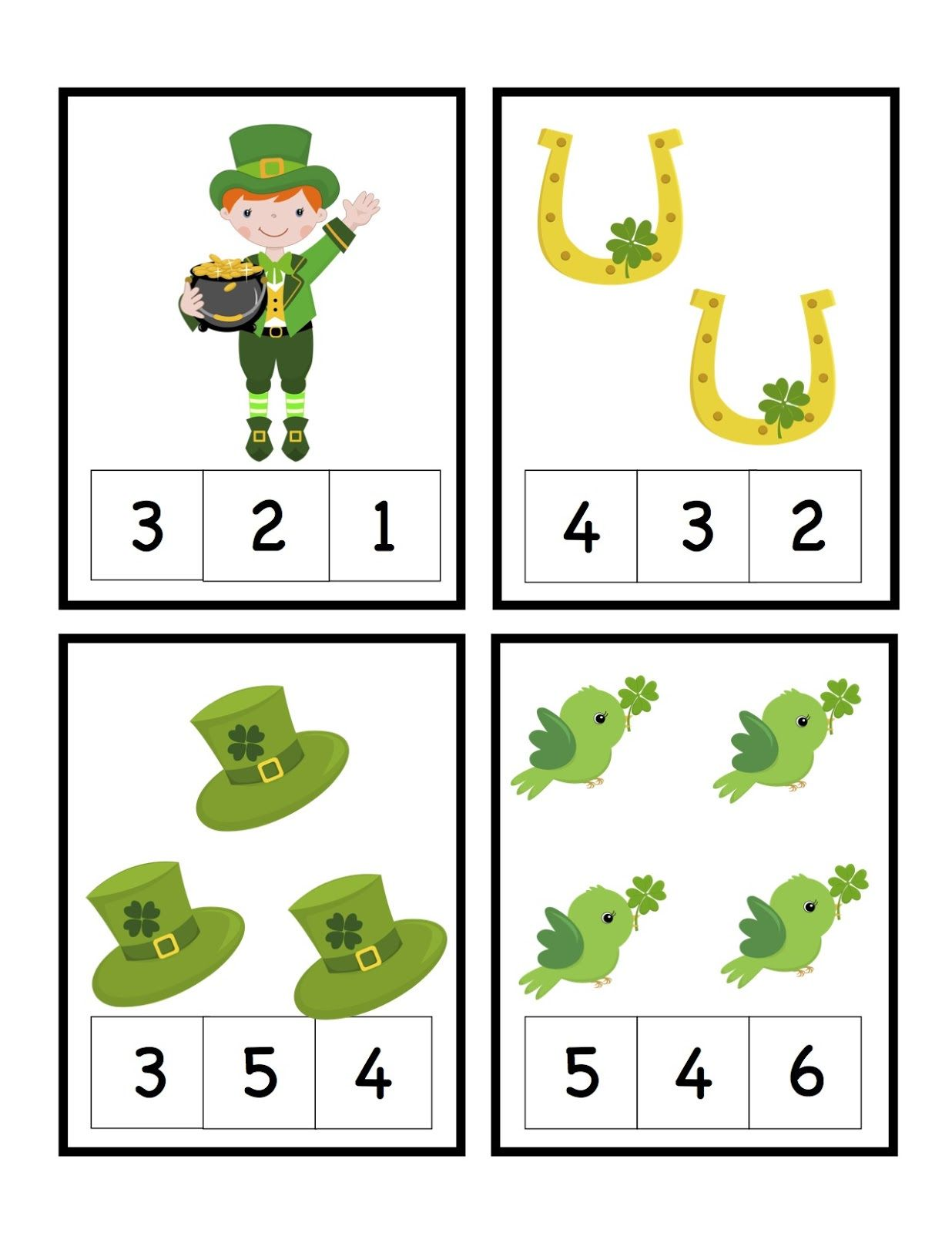 St Patrick S Day Free Printable Cards Preschool