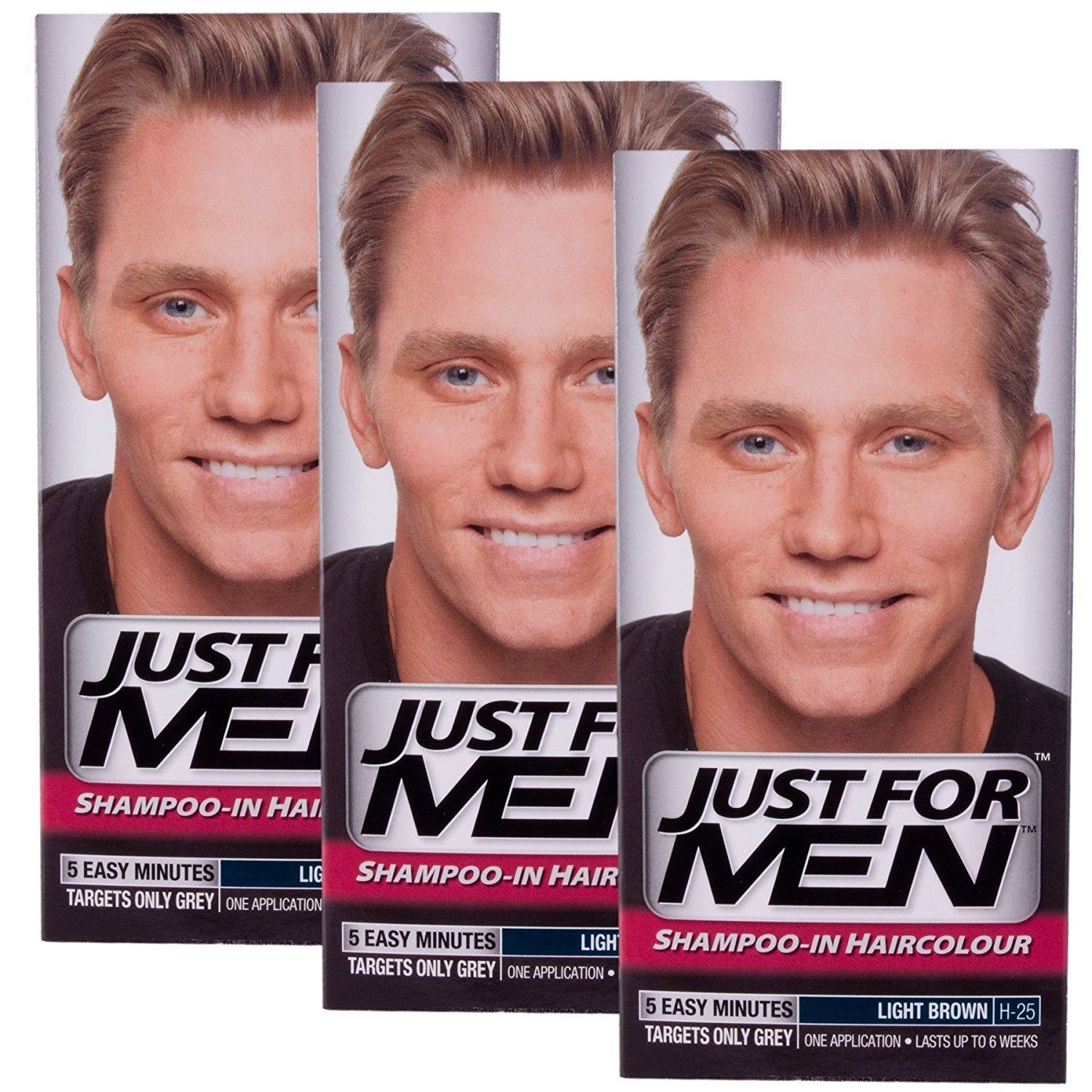 3 X Just For Men Shampoo In Hair Colour Choose Your Colour Light Brown H25 Read More At The Image Link T Just For Men Shampoo Hair Color Men Hair Color