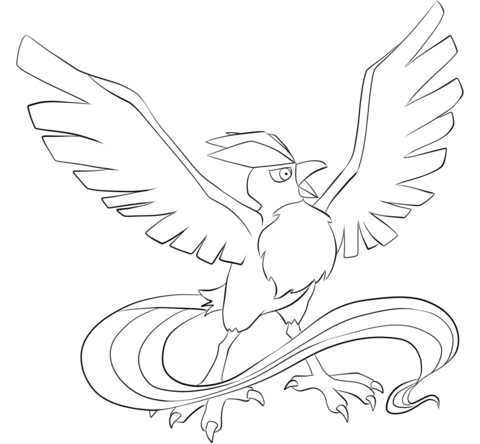 Articuno Coloring Page Pokemon Coloring Pages Pokemon Coloring Coloring Pages