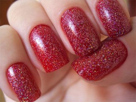 Simple Red Wedding Nail Art Designs Ideas 2014 10 Simple Red Wedding