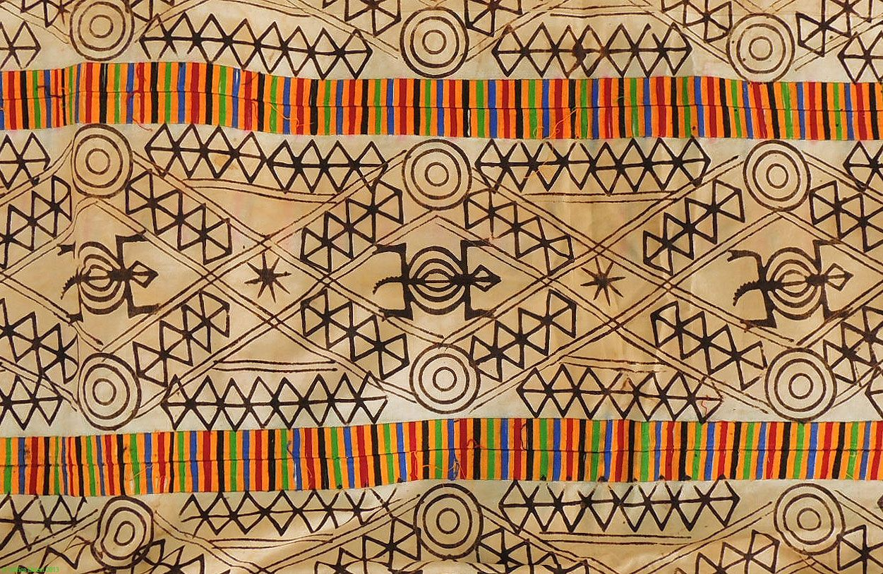 asante adinkra stamped cloth ghana african textile sale was 350
