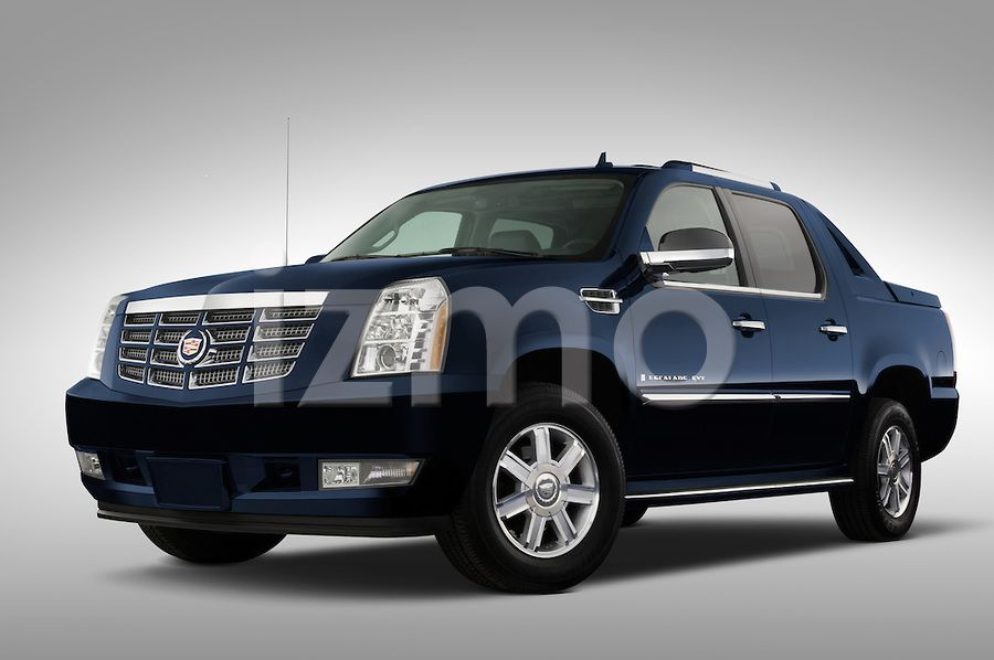 Front view of blue 2007 Cadillac Escalade EXT SUT