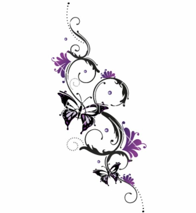 Butterfly Tattoo 1 Butterfly With Flowers Tattoo Tribal Flower Tattoos Butterfly Tattoos Images