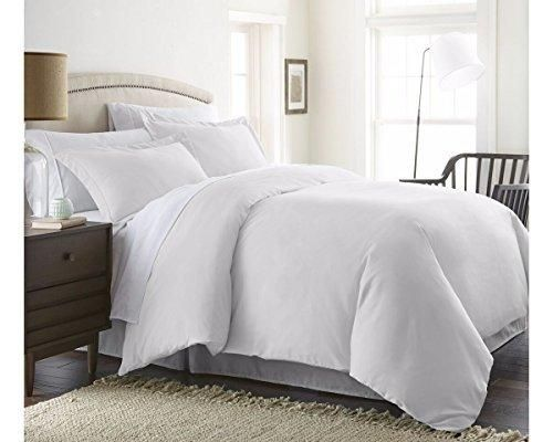 Beckham Hotel Collection Luxury Soft Brushed 1800 Series Microfiber 3 Piece Duvet Cover Set Hypoallergenic
