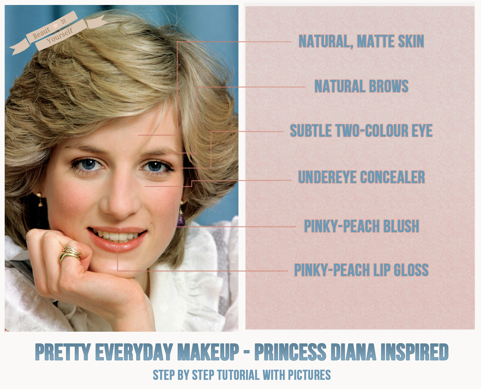 Pretty everyday makeup a princess diana inspired makeup tutorial pretty everyday makeup a princess diana inspired makeup tutorial get her look with this baditri Images