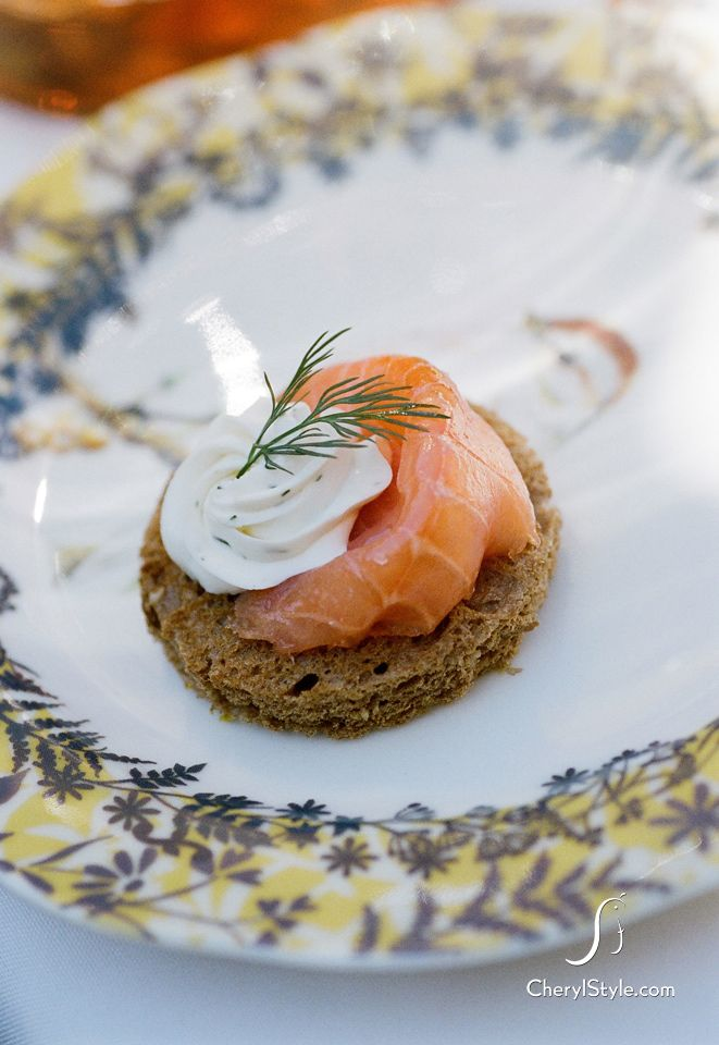 salmon, fresh cream and dill is classic tea party finger food + 5 other no-cook appetizers #recipe
