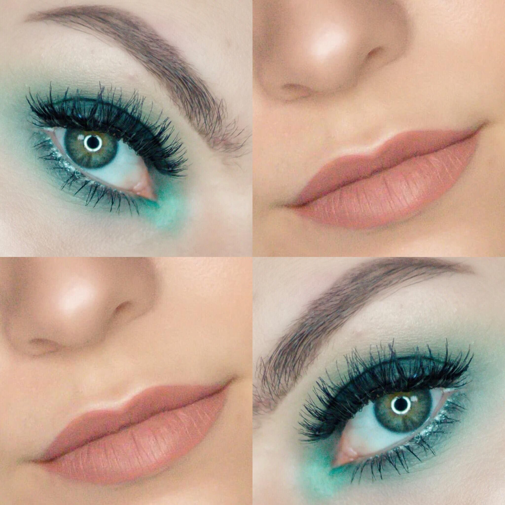 Teal Navy Smokey Eyeshadow Tutorial Blonde And Ambitious Blog