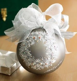 Luxury Christmas Bauble: Wreath Design Holiday Ornament by Natalie ...