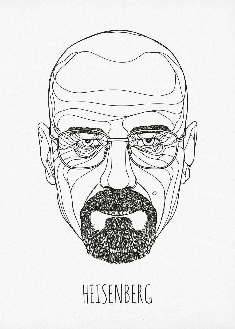 Heisenberg by topf (via Creattica) illustration Colagem