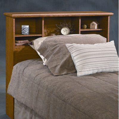 Sauder Orchard Hills Twin Bookcase Headboard In Oak Finish 79 00