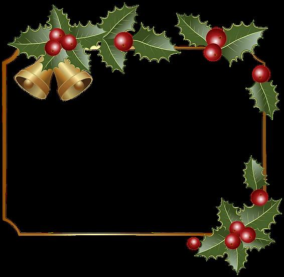 Christmas Frame With Bells Transparent Background Digital Poster Upcrafts Design Free Christmas Borders Christmas Border Christmas Frames