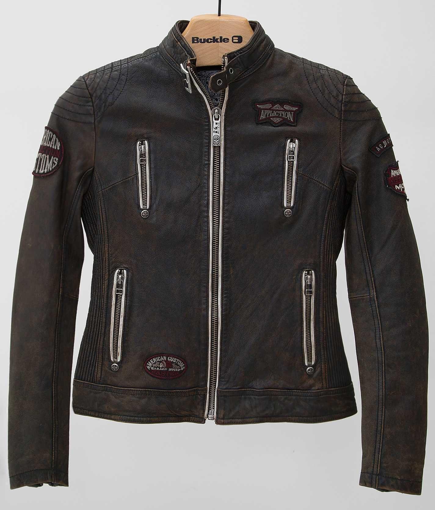 Affliction Black Premium Divergent Jacket Women's