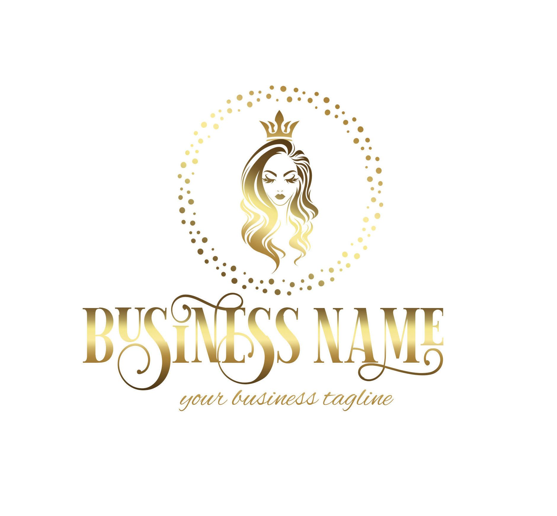 Beauty Logo Hair Salon Logo Makeup Logo Hair Logo Girl Logo Design Makeup Logo Salon Logo Hair Stylist Logo