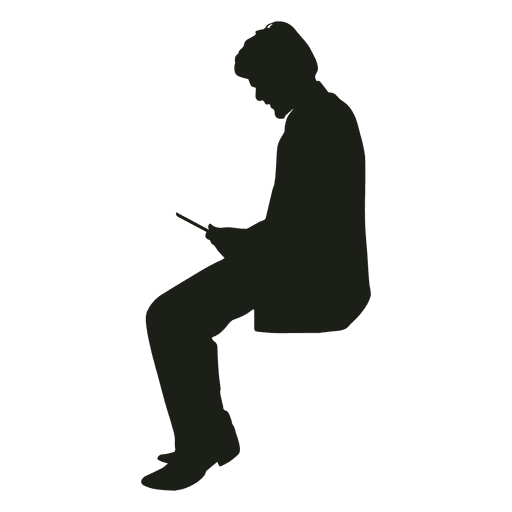 Man With Phone Sitting Silhouette Ad Sponsored Ad Phone Sitting Silhouette Man Person Silhouette Silhouette Man Book Silhouette