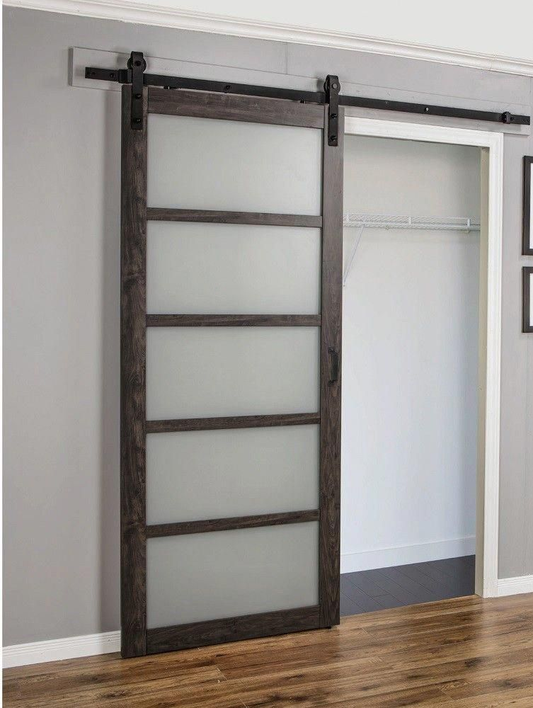 Single Sliding Barn Door Sliding Barn Door Track And Rollers Wood Barn Door Designs 20190308 Glass Barn Doors Doors Interior Interior Barn Doors