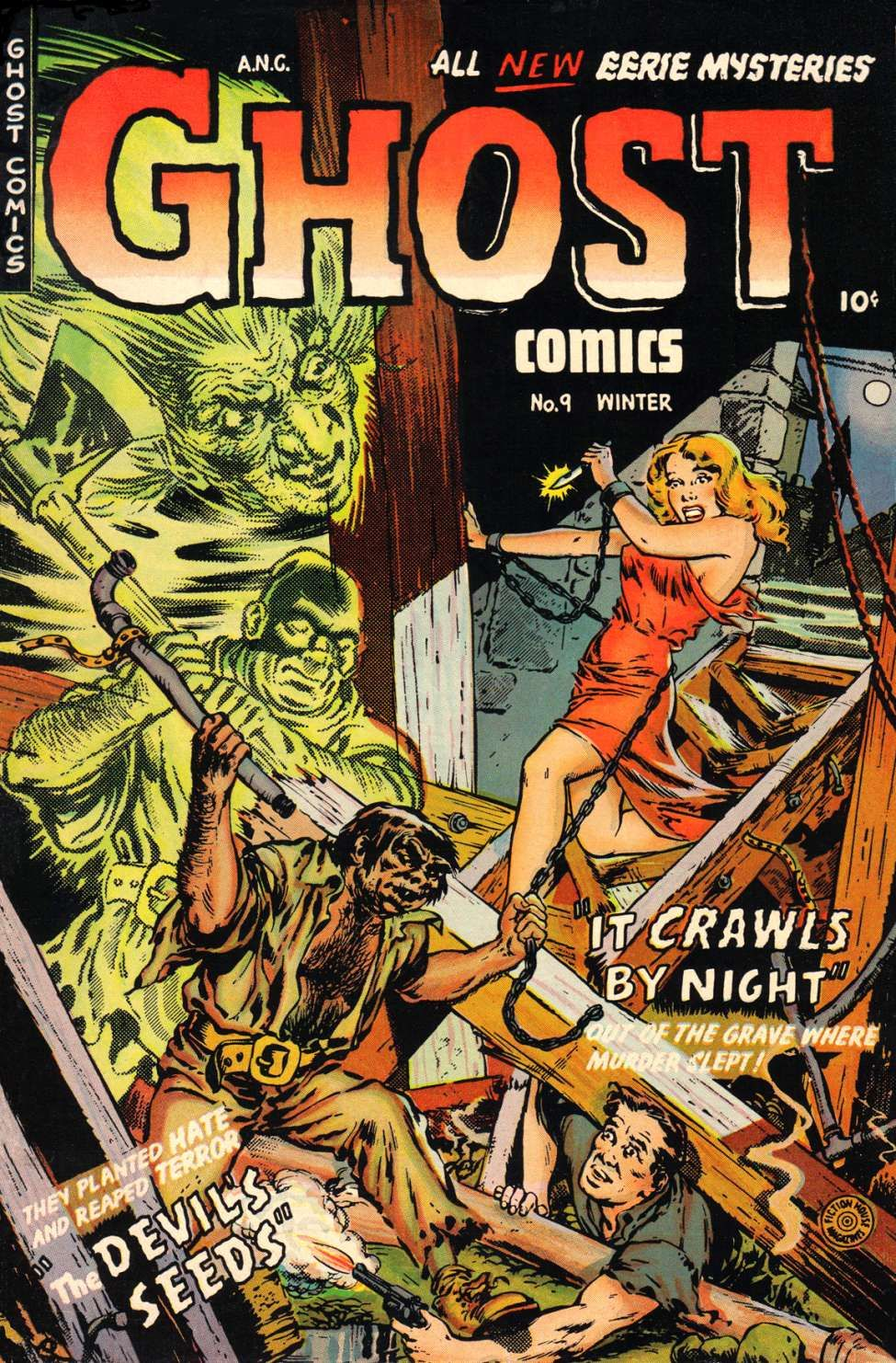 Comic book cover for ghost comics 9 horror comic books for Classic haunted house novels