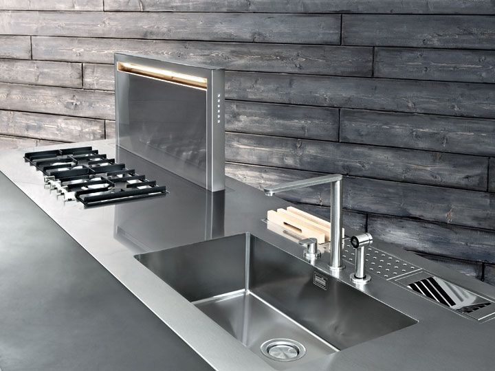 Top in acciaio | Progetti di cucine, Idee per la cucina ...