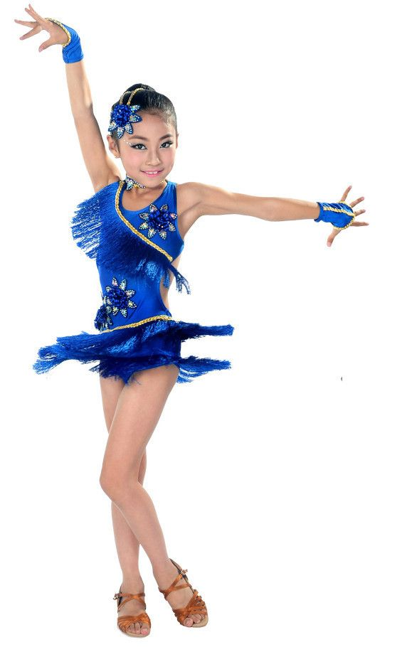 Pas cher Enfant latine robes de danse pour gland style Cha Cha   Rumba    Samba a96ec42f8e1