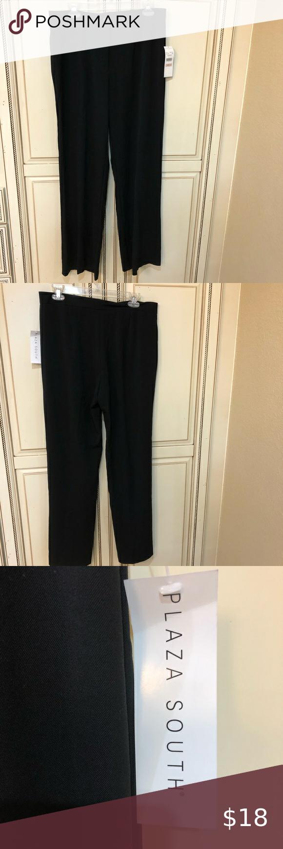 Tall Nwt Black Dress Pants By Plaza South Size 12 Black Dress Pants Dress Pants Floral Wide Leg Trousers [ 1740 x 580 Pixel ]