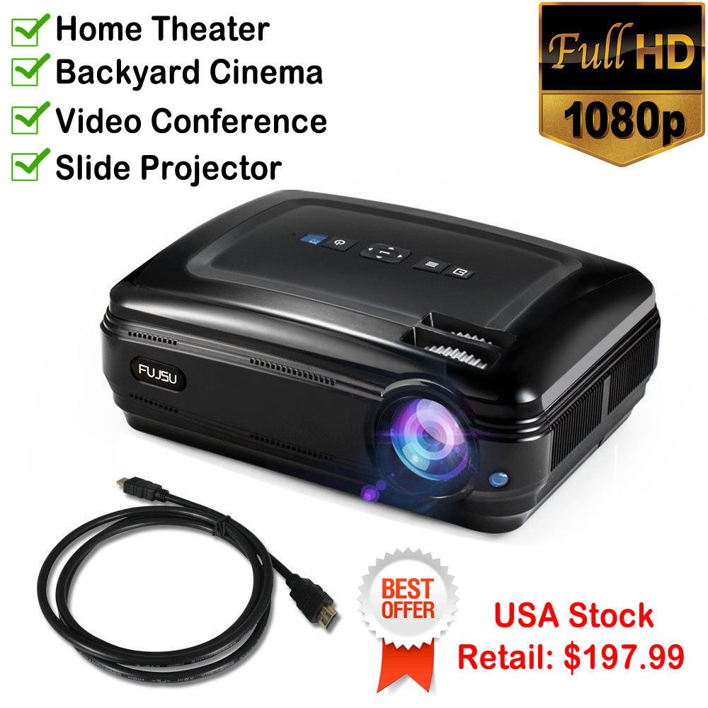 Home Video Projector Hdmi Full Hd Led 3200 Lumens Slide