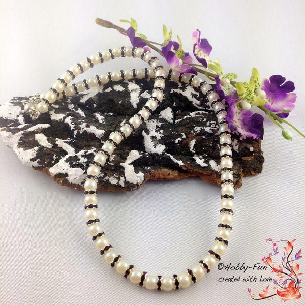 """Perlenkette """"Rondelle"""" #0048 von Hobby-Fun/kreative Schmuckideen auf DaWanda.com"""