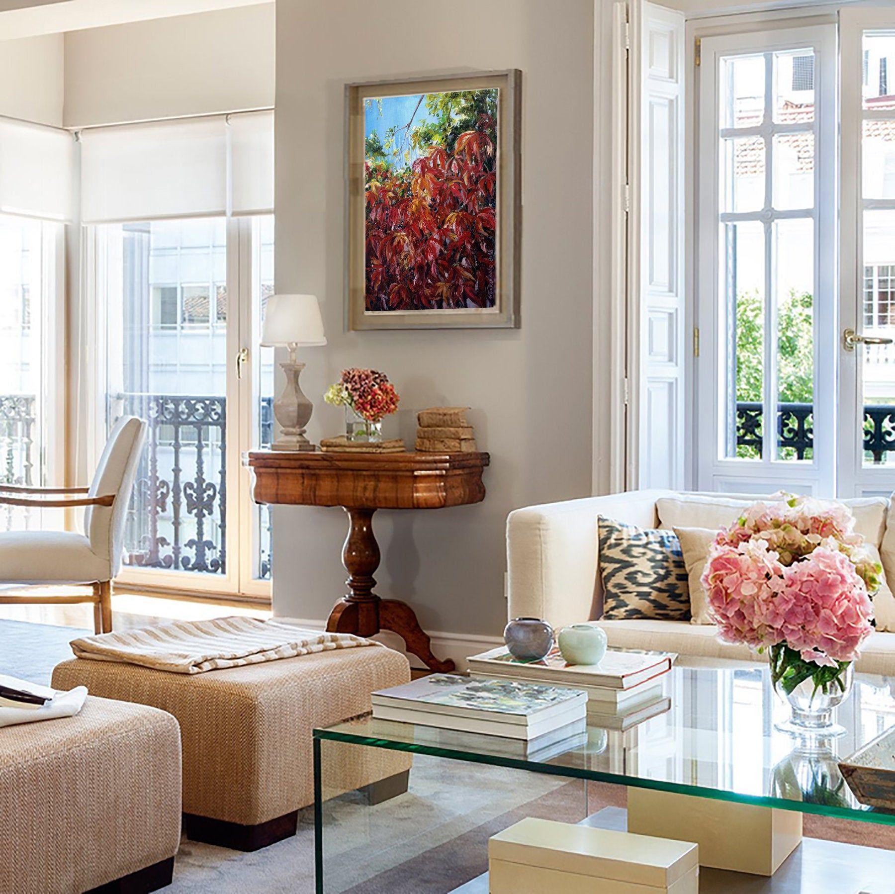 Autumn Colors Modern Original Acrylic Artwork Living Room Etsy In 2020 Perfect Living Room Decor Living Room Decor Home Decor View home living room color ideas