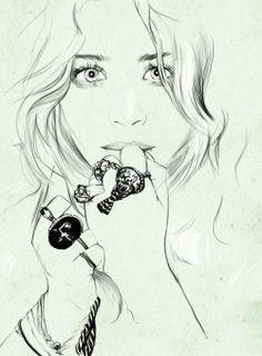 hipster girl drawing tumblr - Buscar con Google