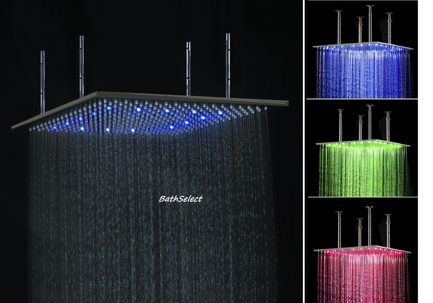 Turn On The Fun In Your Shower Just By Turning On The Water The Led Lights Will Automatically Light Up And Rain Shower Head Shower Heads Rainfall Shower Head