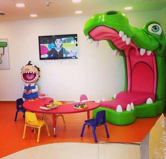 Pediatric Office Decor pediatric dentist waiting room www.prodental | metal braces