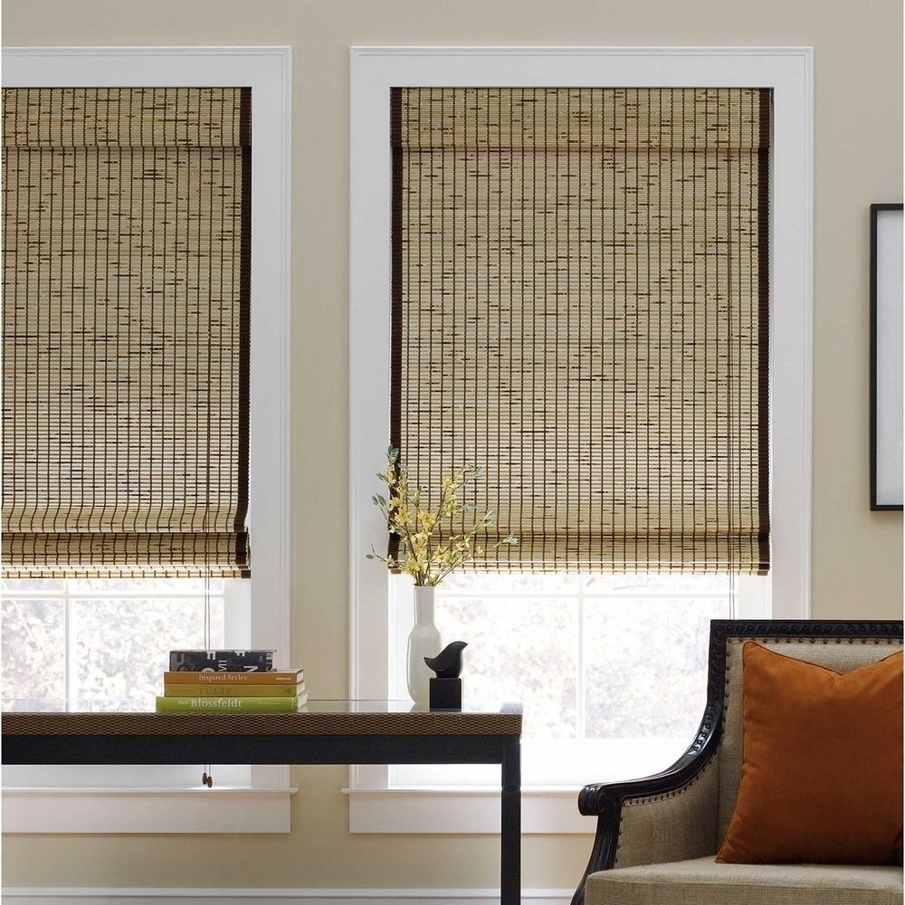Bamboo house window design  demori cuttowidth tortoise corded natural bamboo roman shade