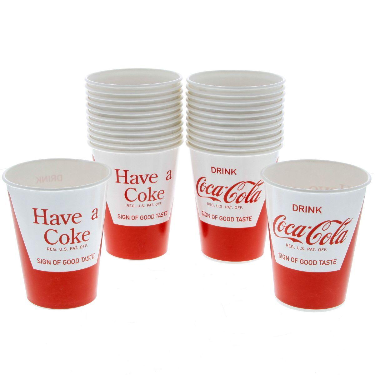 Coca-Cola Soda Fountain Paper Cups 24 Pack | Diner Serveware | RetroPlanet.com