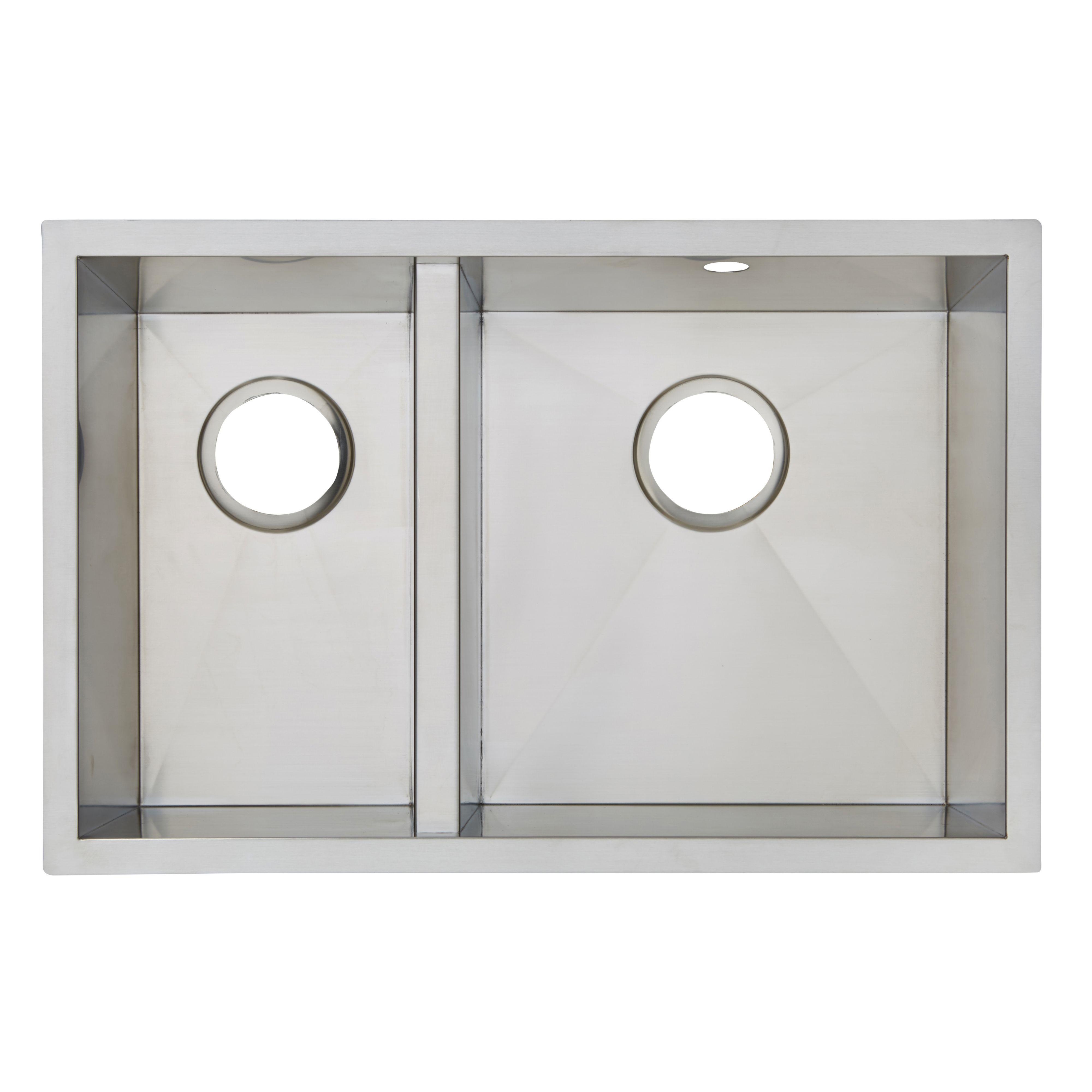Cooke & Lewis Cajal 1.5 Bowl Brushed Stainless Steel Sink | kitchen ...