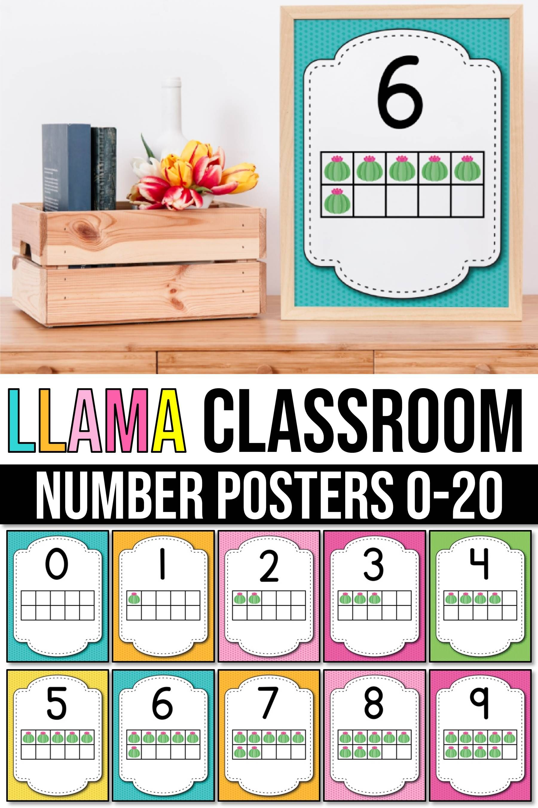 Number Posters 1 20 With 10 Frames