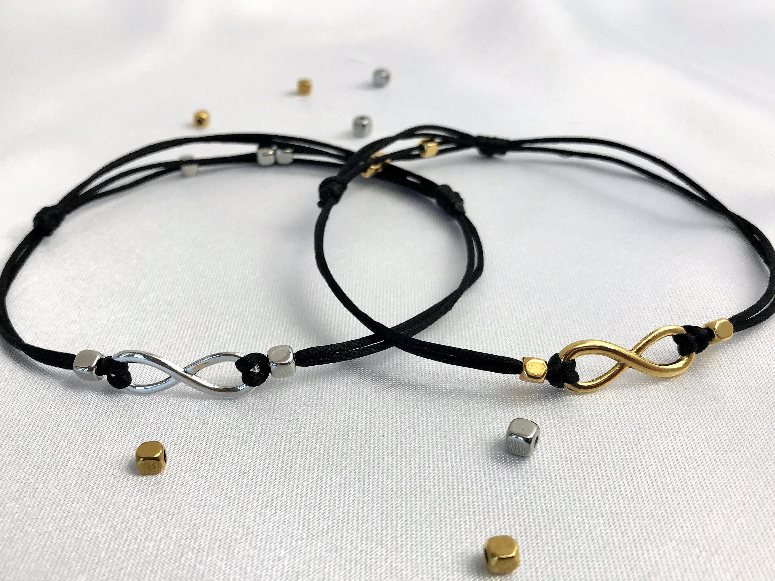 Partner Anklets Infinity Anklets for Couples Infinity Couples Anklet Friendship Goals Matching Best Friend Handmade Anklet Set of 2