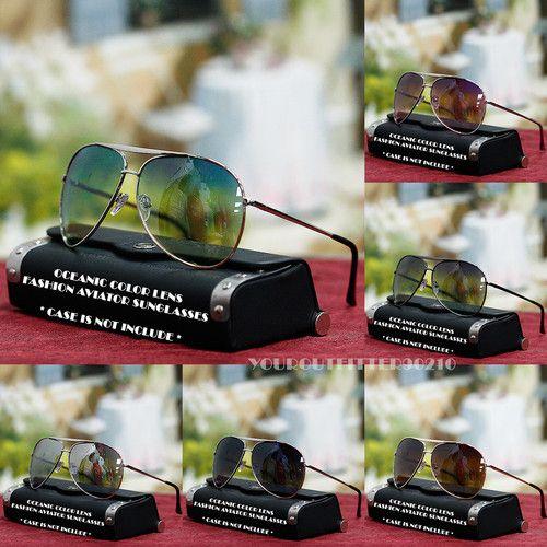 Mens Womens Aviator Sunglasses Driving Oceanic Shade s UV 400 New Metal Frame