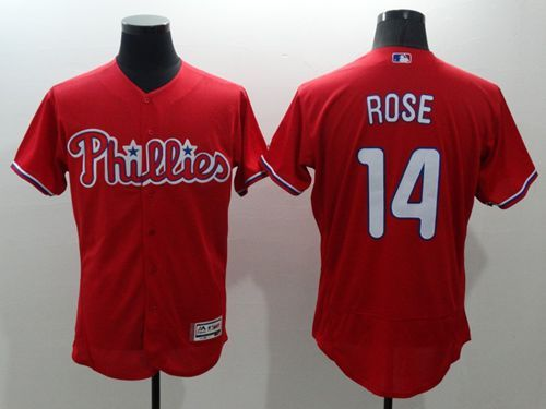phillies 14 pete rose red flexbase authentic collection stitched mlb jersey