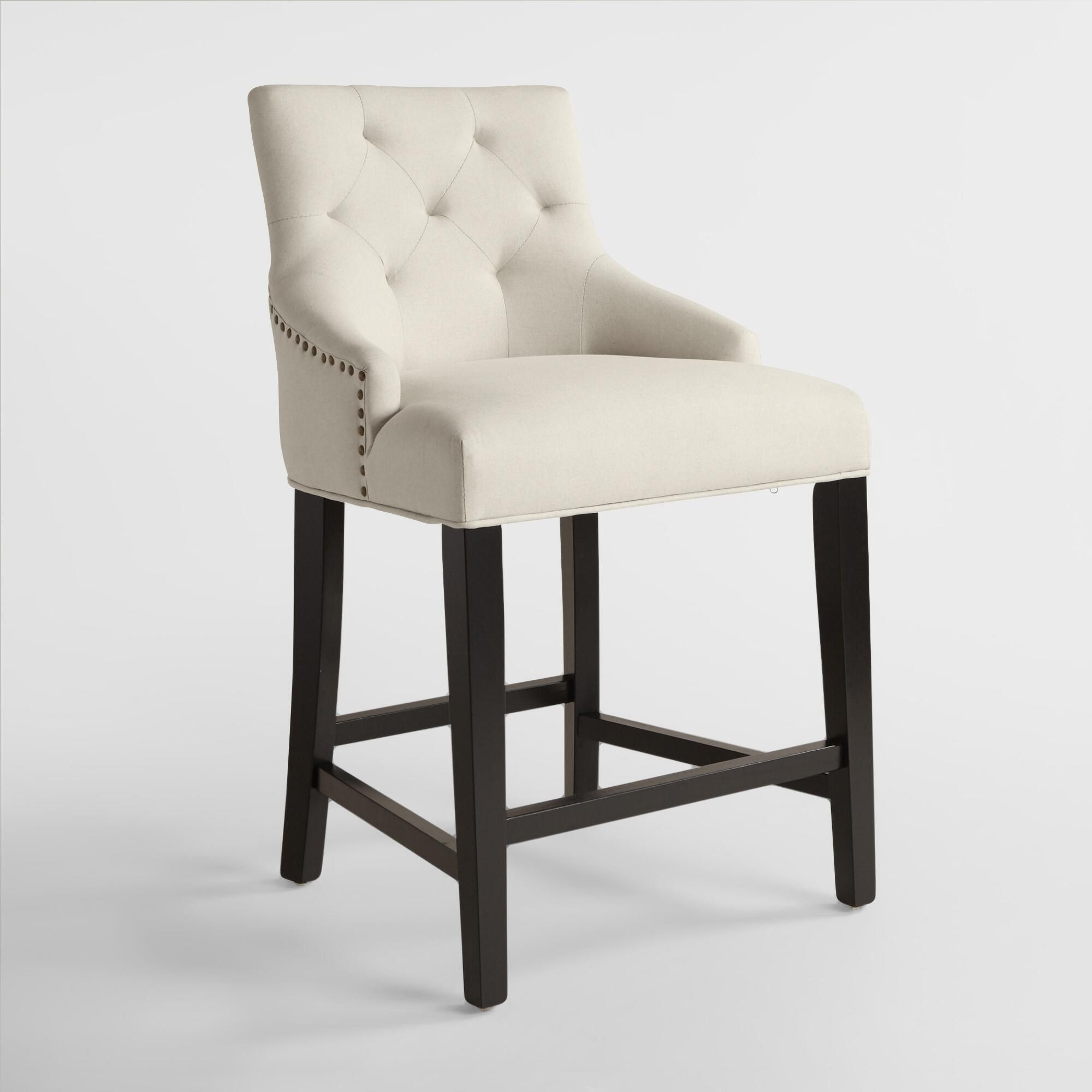 Brilliant Tufted Lydia Upholstered Counter Stool Fabric Cjindustries Chair Design For Home Cjindustriesco