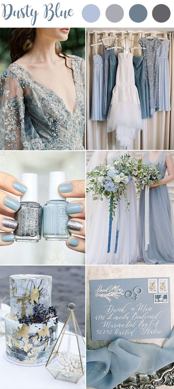 9 Ultimate Dusty Blue Color Combinations for Wedding -   16 wedding Blue winter ideas