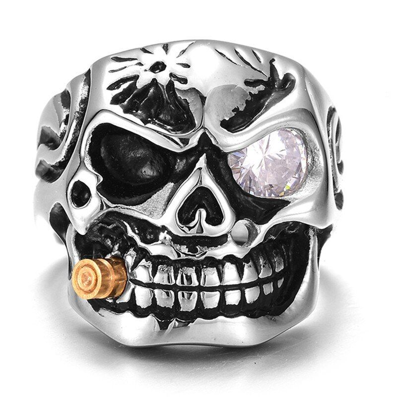 Photo of Punk jewellery 316l stainless steel men ring vintage viking …
