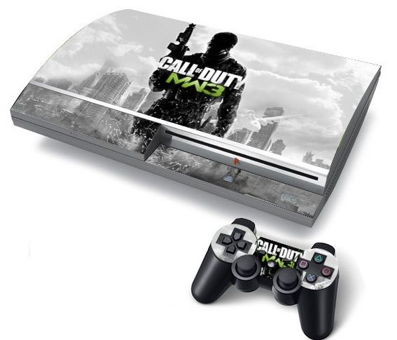 3944f19303 Sony Ps3 Fat Console Protector Vinyl Skin Sticker Call Of Duty Mw3 ...