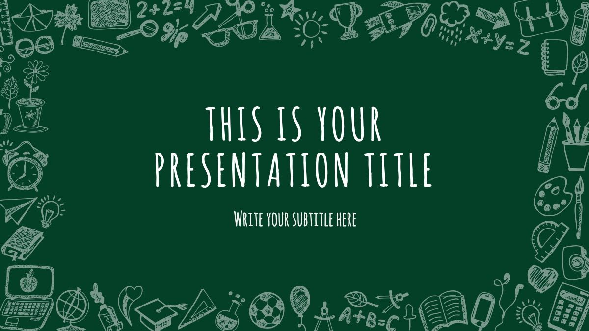 Free School Stuff Theme Powerpoint Template Dengan Gambar