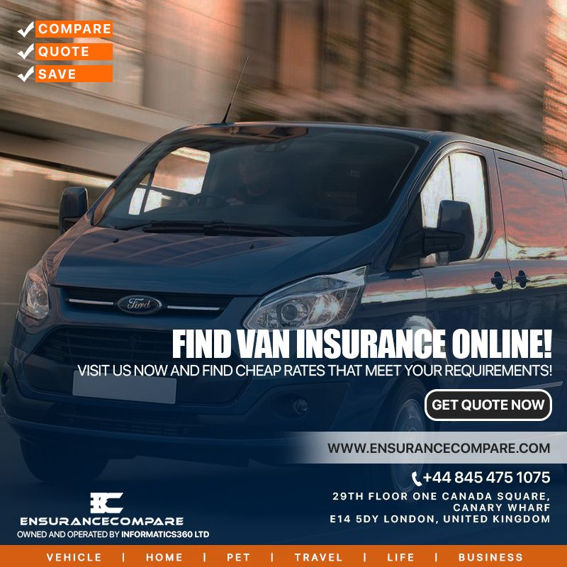Find van insurance online Compare quotes, Insurance