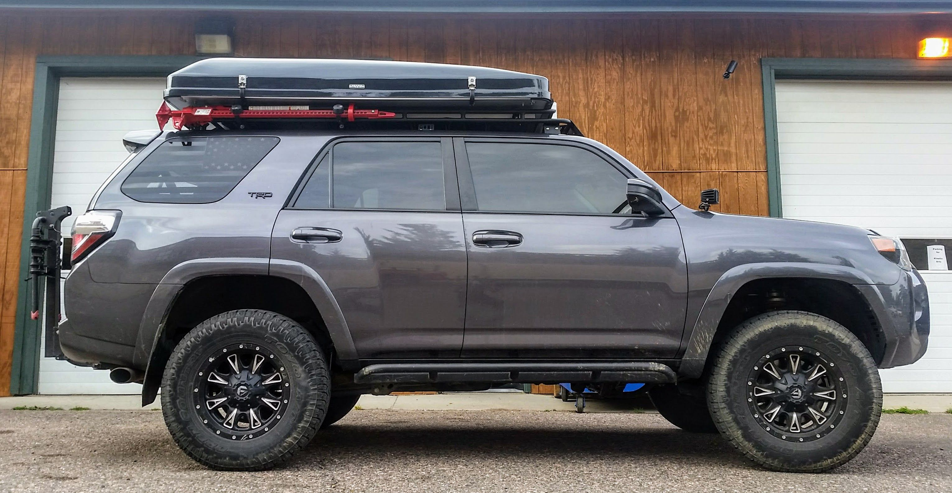 Toyota 4runner Gobi Rack And Ikamper Skycamp Rooftop Tent Look Like They Are Made For Eachother Come Visit Altitude Ind Toyota 4runner 4runner Roof Top Tent