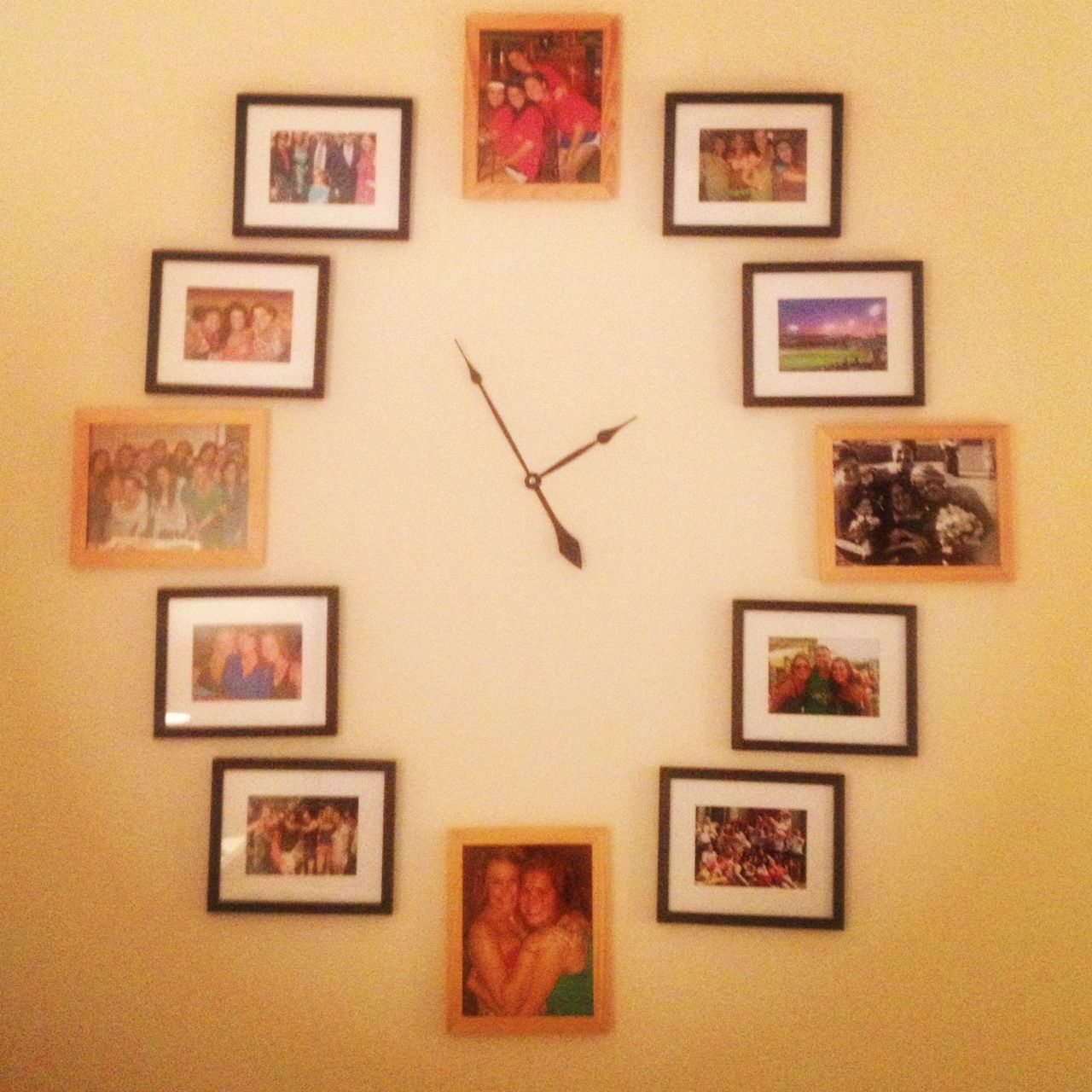 DIY Wall Decor - Clock. Use any frames and order the hands from ...