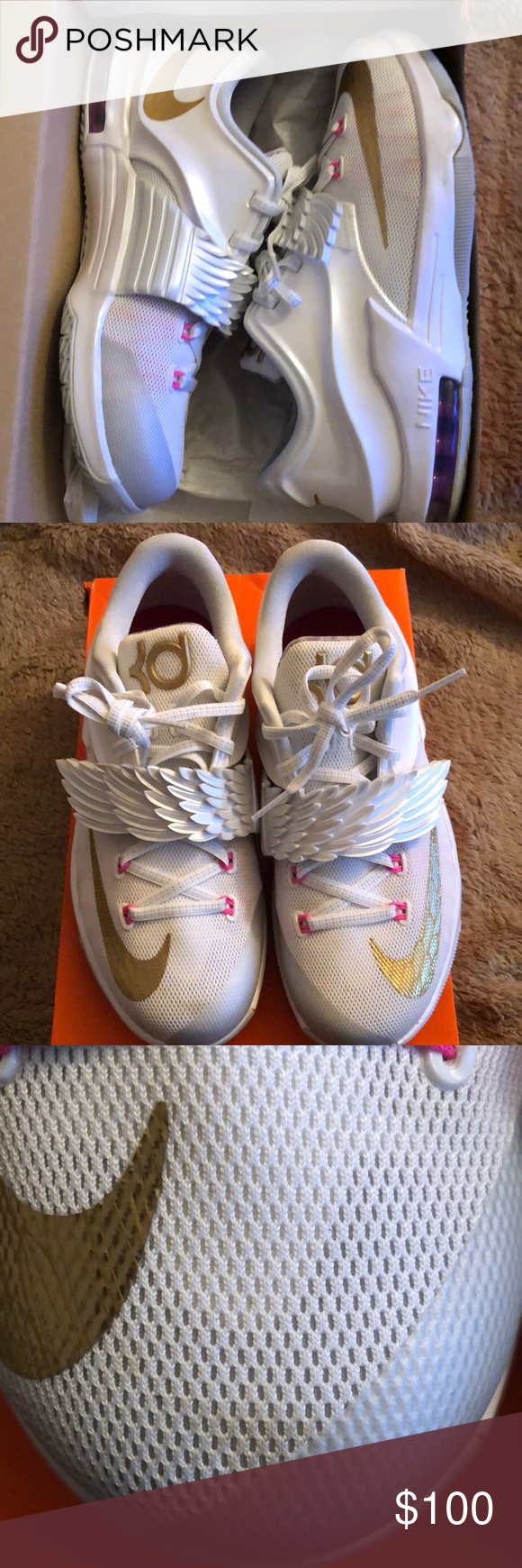 free shipping 12043 a0139 KD Aunt Pearl VII Preowned worn once 💘. KD aunt pearl , comes with original