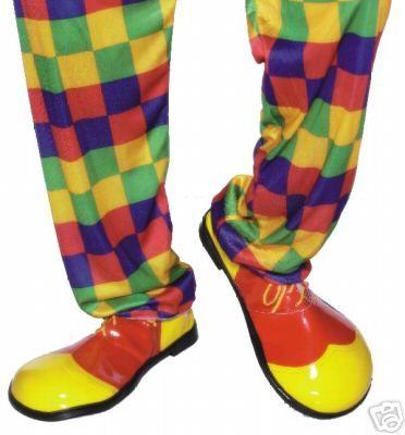 Party Fancy Dress Huge Plastic Clown Shoes - 25519 | eBay