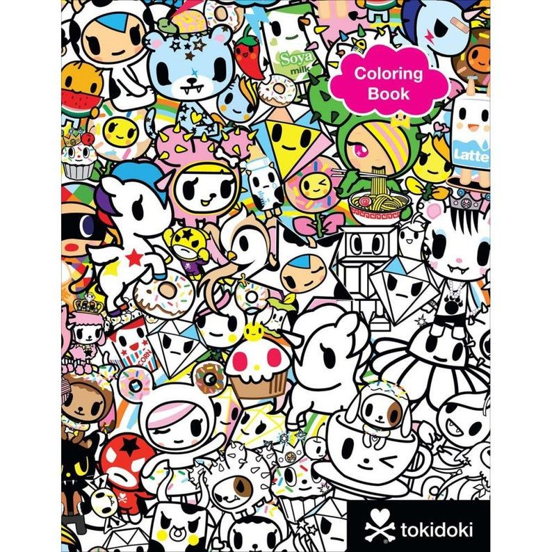 Tokidoki Coloring Book Etsy In 2020 Sketch Book Coloring Books Tokidoki