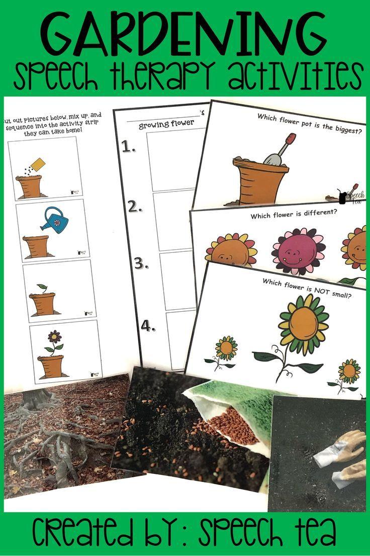 Garden Therapy Different Garden Ideas: Gardening Speech Therapy Activities